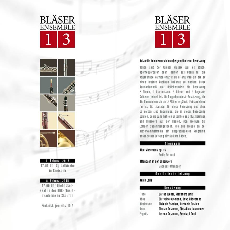 Flyer Bläserensemble 13