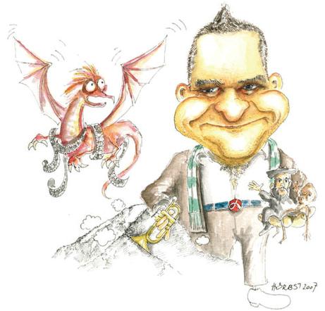 Karikatur Otto M. Schwarz