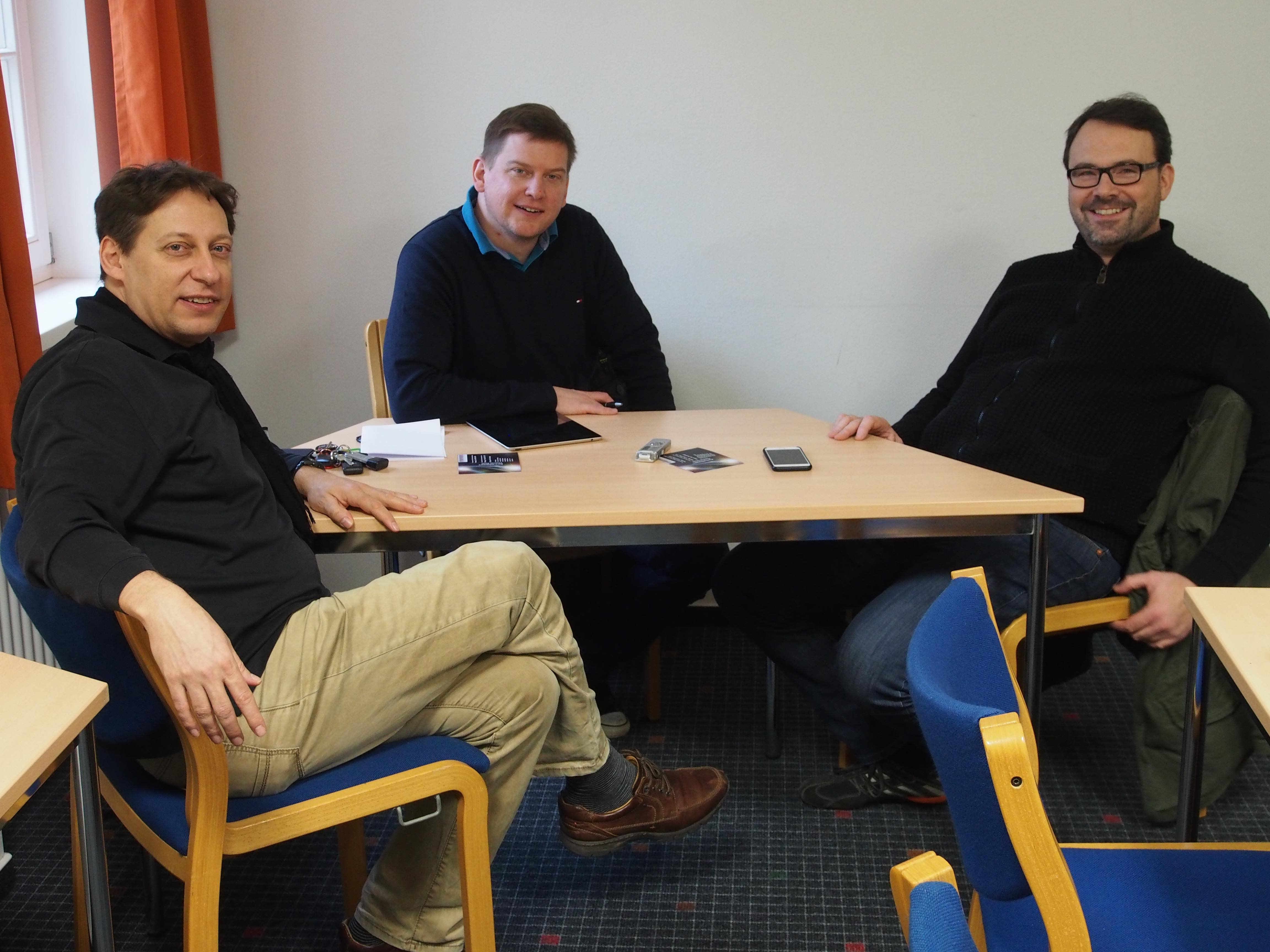 Thomas Doss, Klaus Härtel und Hubert Hoche