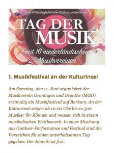 Musikfestival Borkum
