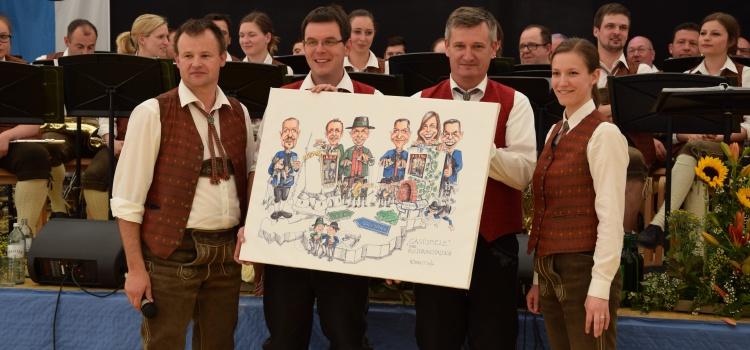 Rupert Hörbst: Karikaturen als Gastgeschenk
