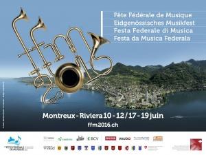 Plakat Eidgenössisches Musikfest Montreux
