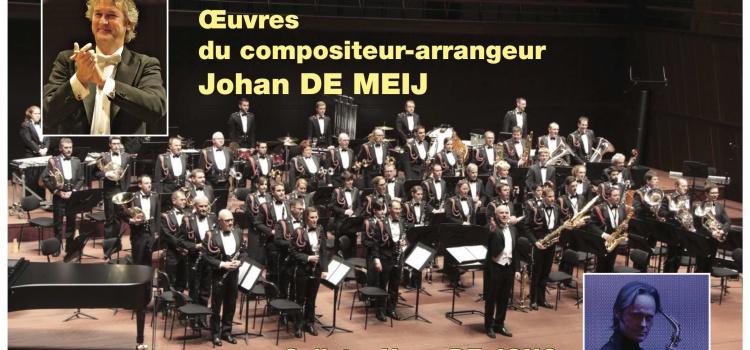 Johan de Meij dirigiert die Musique Militaire Grand-Ducale Luxemburg