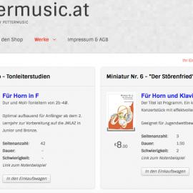 Siegmund Andraschek: Neuer Webshop mit Noten zum Download