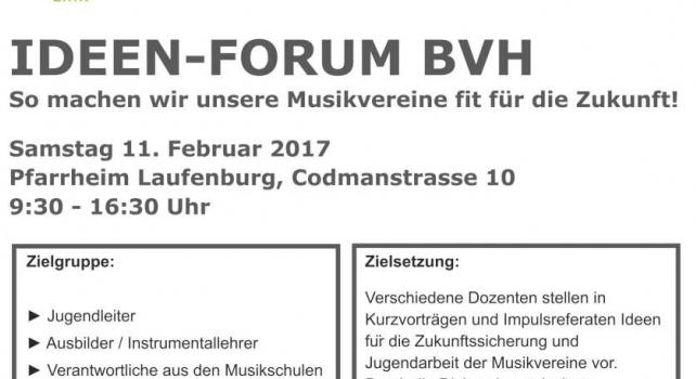 Ideen-Forum im Blasmusikverband Hochrhein