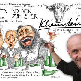Rupert Hörbst: Gleich drei Ausstellungen mit seinen Karikaturen!