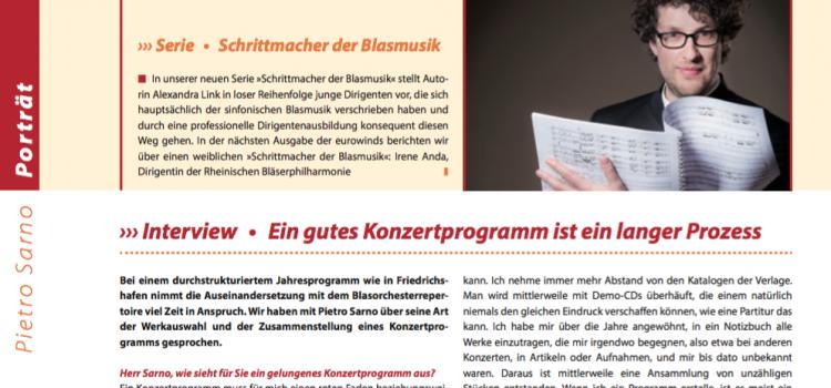 """Neue Serie: """"Schrittmacher der Blasmusik"""" in der Eurowinds"""