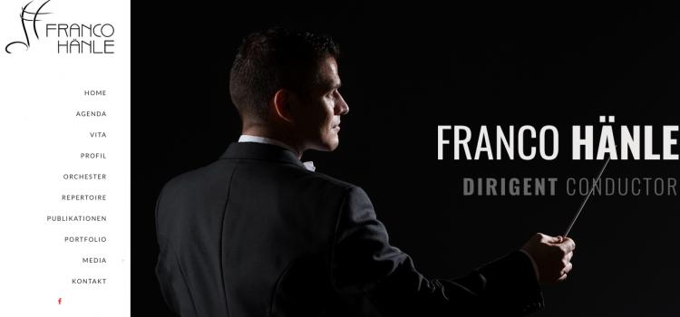 Neue Website für Franco Hänle
