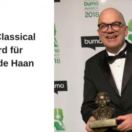 Jacob de Haan mit dem Buma Classical Award ausgezeichnet