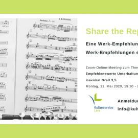 Share the Repertoire – Online-Pilot-Aktion