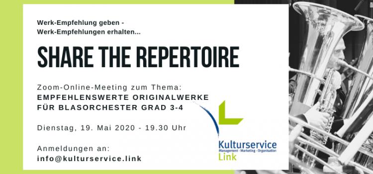 SHARE THE REPERTOIRE – Werk-Empfehlung geben, Werk-Empfehlungen erhalten!