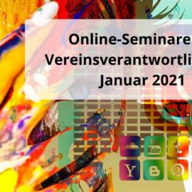 Online-Seminare für Vereinsverantwortliche im Januar 2021